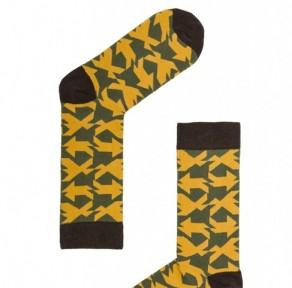 Носки Cuadricula yellow